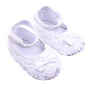 Voberry® Newborn Baby Girl Soft Sole Bowknot Mary Jane Ballet Flat Prewalker