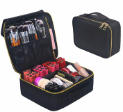 Portable Makeup Train Case, FLYMEI Waterproof Cosmetic Organiser Kit Travel Makeup Case Make Up Artist Storage