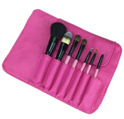 Huachnet 7PCS Makeup Brushes Set with Rose Pouch Case Bag