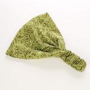 Peppercorn Kids Girsl Exotice Paisley Headband - Citrus Green