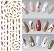 Nail Art Water Transfer Stickers Feather - DS262 Nail Sticker Tattoo - FashionDancing