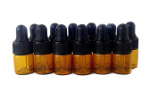 12PCS 1ml/2ml/3ml Empty Amber Glass Essential Oil Bottle Jar with Glass Eye Dropper Cosmetic Makeup Sample Container Bottle Pot
