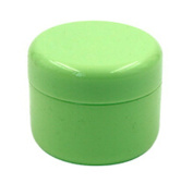 12 Pcs 50G 50ML Refillable Plastic Empty Face Cream Lotion Cosmetic Powder Container Makeup Make Up Glitter Storage Bottle Jar Lot with Inner Lids - Green