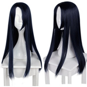 Mcoser 70cm Long Straight Dark Blue SINoALICE Anime Kaguya Cosplay Wig