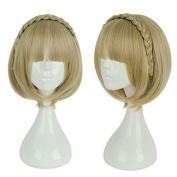Mcoser SINoALICE Anime Short Briar Rose Cosplay Wig