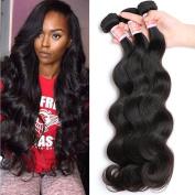 Pizazz Brazilian Virgin Hair Body Wave Remy Human Hair 3 Bundles 100% Unprocessed Virgin Hair Extensions Natural Colour