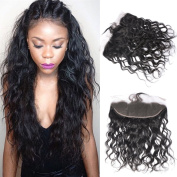 GEM Hair Brazilian Human Hair Water Wave Lace Frontal From Ear to Ear Unprocessed Virgin Hair Water Wave Swiss Lace Fontal Closure 1pc 50cm