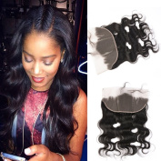 GEM Beauty Hair Brazilian Body Wave Human Hair Lace Frontal Size 13x 4 Ear to Ear Body Wave Lace Frontal Closure 50cm Brazilian Virgin Hair Natural Black