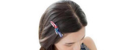 GAMT Fashion American Flag Bow-Knot Hairpin Head Dress Accessories for Women Red