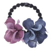 VANKER Women Lovely Camellia Flower Floral Hair Band Elastic Tie Rope Ring Headwear 2#