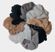 Chiffon Scruchie Set - Set of 8 Scrunchies in Matte and Textured Chiffon