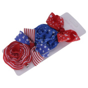 Mmrm 4Pcs/Set Baby Girl Independence Day Hair Clips Colourful Barrette Hairpin Hair Decor