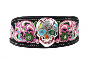 Sugar Skull Embroidered Women Headband Stretch, Hair Accessories, Hair Jewellery