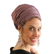 Sara Attali Design Tichel Full Hair Covering Lovely Snoods Turban One Size Purple