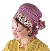 Sara Attali Design Tichel Half Hair Covering Winsome Headscarf TICHEL One Size Purple