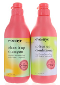 Set Eva Nyc Clean It Up Shampoo and conditioner 1000ml Litre each Nourishes & Strengthens with Keravis plus Argan Oil