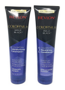 Revlon Colorsilk Colorstay Moisturising Shampoo and Nourishing Conditioner Set, Bold Black, 250ml each (Bundle