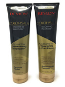 Revlon Colorsilk Colorstay Moisturising Shampoo and Conditioner Set, Glowing Blonde, 250ml each (Bundle
