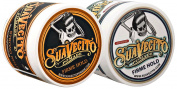 Suavecito Duo Bundle. Original Firme (120ml) and Unscented Firme (120ml) Variations. Strong Hold Styling Hair Pomades for Men.