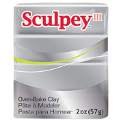 Oven Bake Modelling Polymer Clay in Silver by Sculpey III