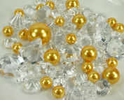 Dreampartycreation 60 Assorted Pearls & Acrylic Gems Table Scatter Vase Decoration