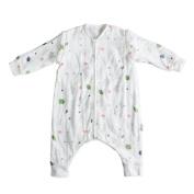 Hi Sprout Muslin 100% Cotton Stripe Zip up Sleeping Sack Long Sleeve Sleeping Bag with Feet Wearable Blanket