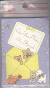 """Baby Boy or Girl Birth Announcement Cards - """"Our New Baby Has Arrived"""" - Special Delivery with Teddy Bears, Cat, Lamb, Bunny, Butterflies"""