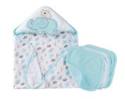 Gerber Newborn Baby Unisex Bath Essentials Gift Set, 4-Piece