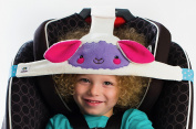 NoBob LAMB Car Seat Head Support, High Back Booster, PURPLE-PINK