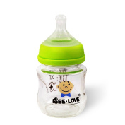 Anti-Broken Glass Baby Bottle, 120ml with Nipple of Newborn Flow, Anti-Colic, Natural Feel