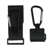 xhorizon SR 2 Pack of Stroller Clips Multi-purpose Hooks, Magic Tape Stroller Hooks Organiser Accessories for Hanging Nappy & Shopping Bags & Purses