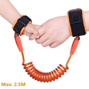 BASEIN Anti Lost Wrist Link Safety Wristbands for Kids Wrist Leash Safety Strap Rope Wrist Link for Toddlers