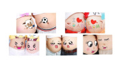 Rain's Pan 10 Sheets Facial Expressions Pregnancy Baby Bump Belly Stickers