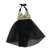 Baby Girls Dress, TRENDINAO Cute Newborn Infants Toddlers Baby Girls Kids Sequins Princess Birthday/Party Solid Dress (6 Months