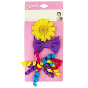 INFANT 3PC SUNFLOWER SALON CLIP