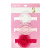 INFANT 3PC ROSETTE LACE HEADWRAPS