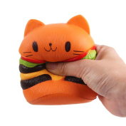 squishies cheap,OUBAO Hamburger Scented Squeeze Slow Rising Fun Toy Relieve Stress Cure Gift