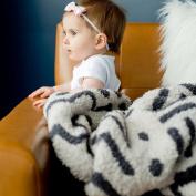 Saranoni Luxury Plush Mini Baby Security Blanket, Mudcloth Double Sided Design
