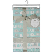 CRIBMATES Petite L'Amour Receiving Blankets Baby Boys Elephant Friends