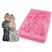 Bride & Groom Wedding Dress Suit Silicone Mould Fondant Chocolate Cake Baking