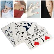 Bluezoo Henna Body Paints Temporary Tattoos Designs Art Stickers for Teens Men Women Maverick Girls