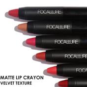 FOCALLURE 19 Colour Matte Lip Stick Moisturiser Lipsticks Waterproof Long lasting FA22