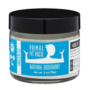 PRIMAL PIT PASTE All Natural Unscented Deodorant   60ml Jar   NO Aluminium, NO Parabens   Made for Women and Men of All Ages   Non-GMO, Cruelty Free, Earth Friendly, BPA Free