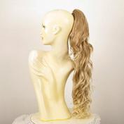 Hairpiece ponytail wavy light blond wick very light blond 65 cm ref 10 15t613 peruk