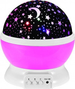 Baby Night Light Moon Star Projector 360 Degree Rotation - 4 LED Bulbs 10 Light Colour Changing With USB Cable, Unique Gifts for Men Women Kids Best Baby Gifts Ever