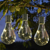 Waterproof Solar Powered Led Bulb Lights, Outdoor Garden Camping Hanging LED Light Lamp Bulb