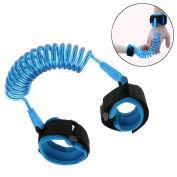 AlJoLife Anti Lost Baby Safety Harness Wrist Flexible Walking Hand Belt For 1-12 years old child (Lengthen 1.5) - Blue