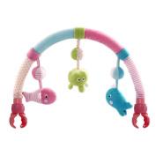 SHILOH Baby Travel Play Arch Stroller Crib Pram Activity Bar with Rattle Squeak