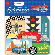 Carta Bella Paper Company Cartopia Frames & Tags Ephemera