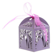 cici store 10Pcs Bride Groom Candy Boxes Wedding Engagement Party Favour Gift